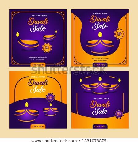 Diwali vendita saluto design testo spazio Foto d'archivio © SArts