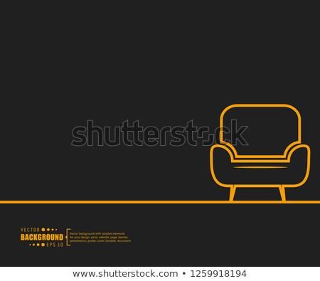 stoel · schets · geïsoleerd · witte · kantoor · home - stockfoto © Arkadivna