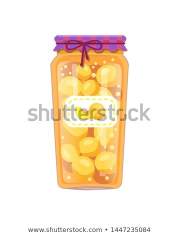 Preserved Peaches Apricots in Unlabeled Glass Jar Stock photo © robuart