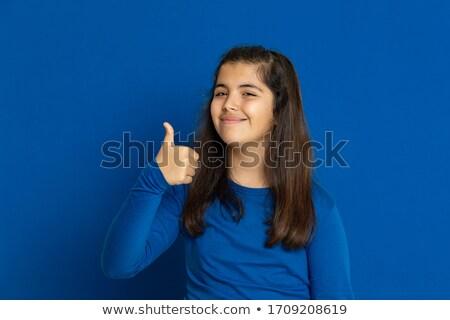Uczennica niebieski zestaw kobiet odzież sportowa sukces Zdjęcia stock © toyotoyo