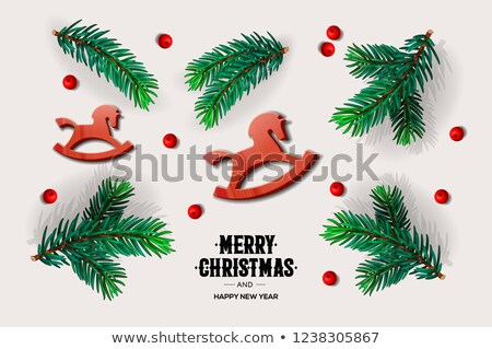 Neşeli Noel happy new year dizayn Stok fotoğraf © ikopylov