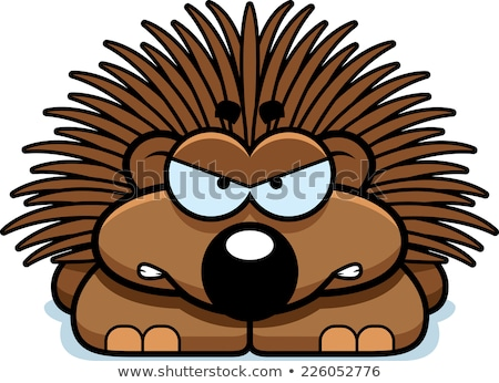 Cartoon Porcupine Angry Stock photo © cthoman