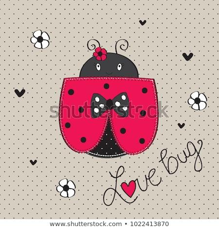 Cartoon coccinella amore illustrazione felice animale Foto d'archivio © cthoman