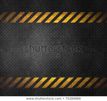 metal · cautela · fita · arte · assinar · prato - foto stock © kayros