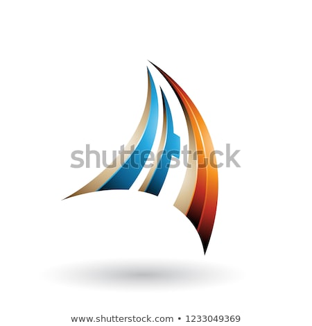 синий · бежевый · 3D · динамический · Flying · письме - Сток-фото © cidepix