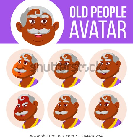 Indian vieillard avatar vecteur asian Photo stock © pikepicture