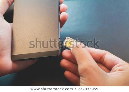 Telefone móvel cartão negócio tecnologia fundo Foto stock © OleksandrO