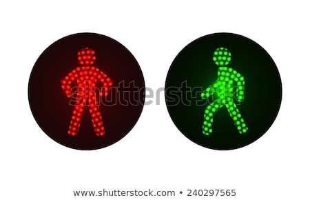 realistic traffic lights for pedestrians   vector illustration stock photo © marysan