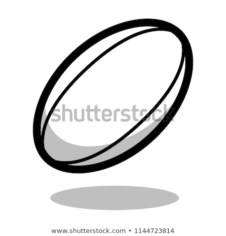 Futebol rugby ícone logotipo vetor equipe Foto stock © blaskorizov