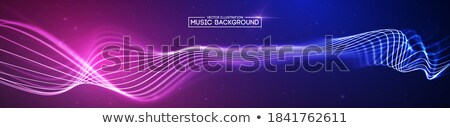 Music Background Vector. Technology Stream. Electric Bokeh. 3D Illustration Stock photo © pikepicture