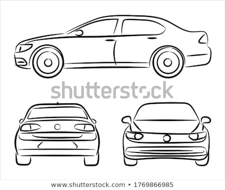 car hand drawn outline doodle icon set stock photo © rastudio