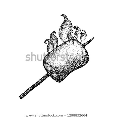 проскурняк огня футболки дизайна татуировка рисованной Сток-фото © Anna_leni