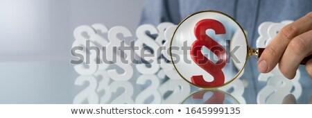 стороны глядя пункт знак увеличительное стекло Сток-фото © AndreyPopov