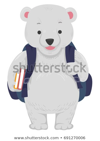 Polar Bear School Bag Books Stock photo © lenm