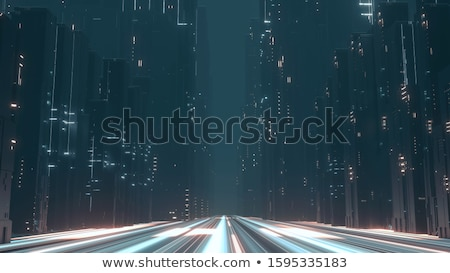 Highway road to a big city.  Stock photo © kali