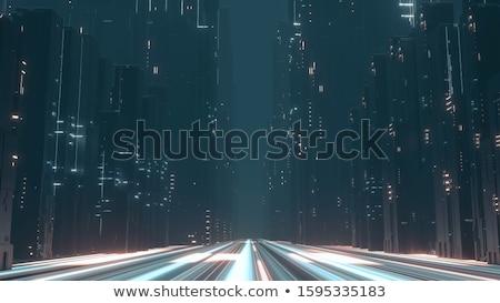 snelweg · wegenbouw · illustratie · ontwerp · bouw · witte - stockfoto © kali