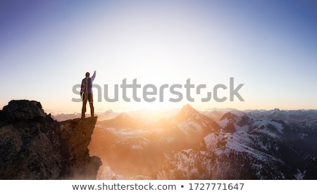 Alpinisme pic route escalade haut Photo stock © sanyal
