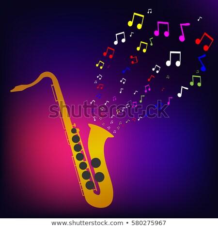 Sassofono note musicali illustrazione musica sfondo Foto d'archivio © colematt