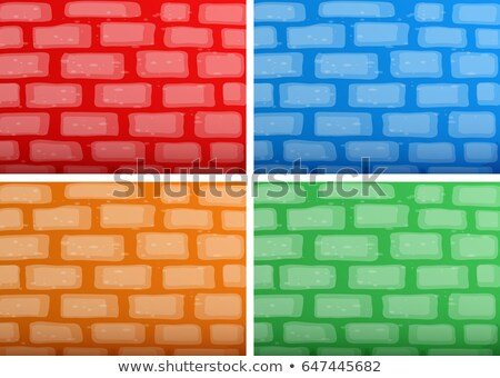 background template with brickwalls in four different colors stock photo © colematt