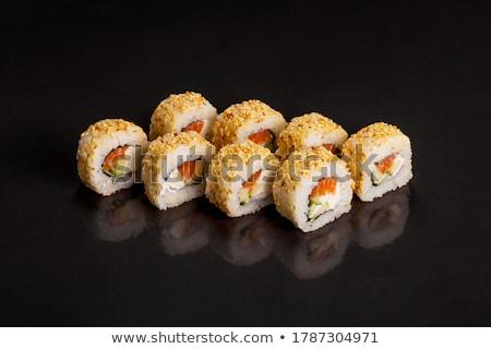 Japanese Restaurant Food, Sushi or Roll and Sake Stock photo © robuart