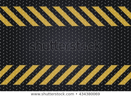 Floor steel plate and yellow line Stock photo © nuttakit