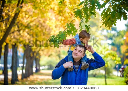мальчика · дерево · древесины · лес · ребенка · молодежи - Сток-фото © dolgachov