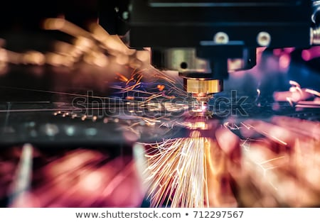 cnc laser cutting of metal modern industrial technology stock photo © cookelma
