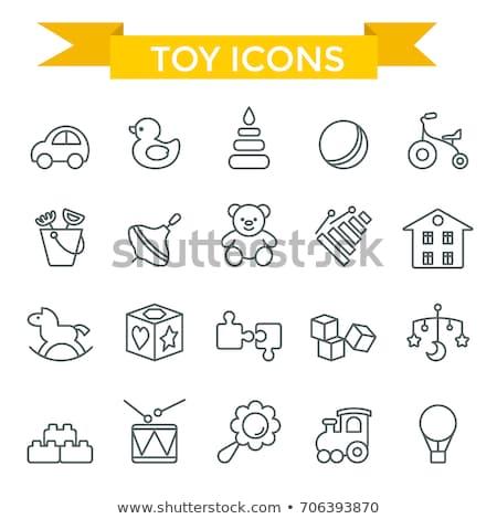 Pyramid toy icon Stock photo © angelp