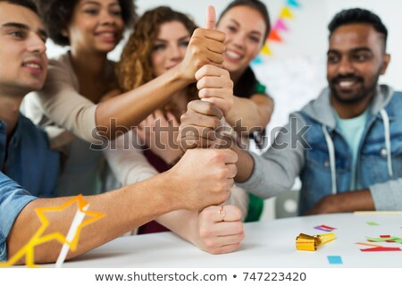 команда рукой знак служба вечеринка Сток-фото © dolgachov
