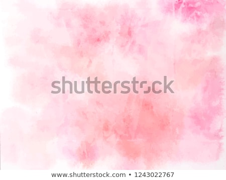 art brushe for drawing and painting with pink paint isolated stock photo © loopall