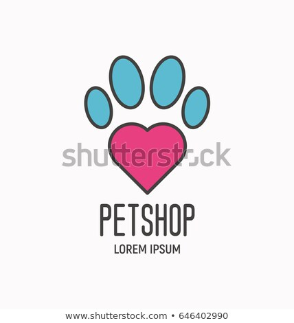 Сток-фото: Color vintage animal shelter emblem