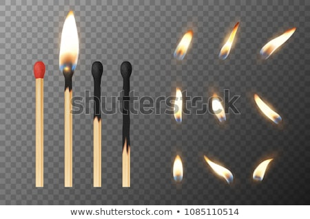 Burning Matches In Matchbooks, Flame Vector Set Сток-фото © pikepicture