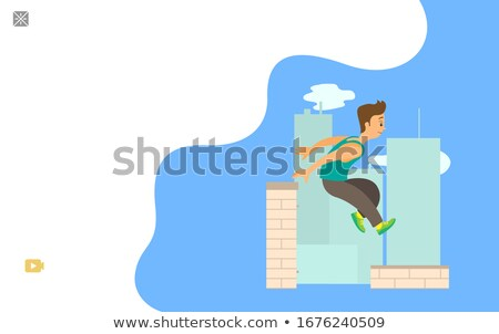 Parkour Website, Extreme Sport, Outdoor Activity Foto stock © robuart