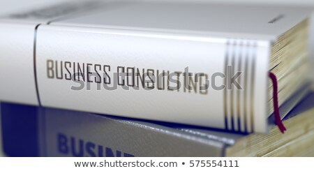 Stock fotó: Financial Consulting - Business Book Title. 3D Rendering.