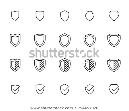 Heraldic shields icons set silhouettes. Vector illustration stock photo © Andrei_
