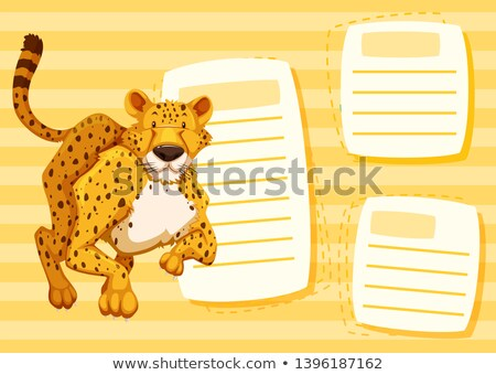 yellow cheetah blank frame stock photo © bluering