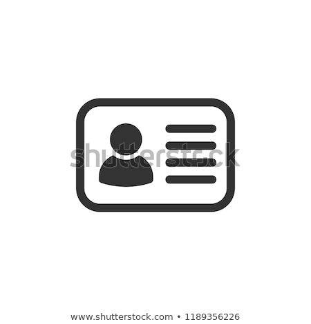 ID Card Icon, name tag. Vector illustration isolated on white background. Stock photo © kyryloff