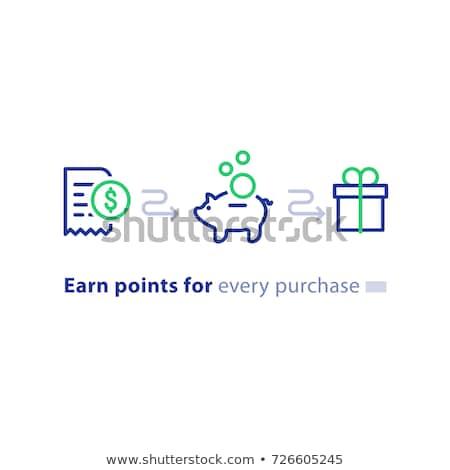 Symbol Erhalt belohnen Punkte Loyalität Programm Stock foto © ussr
