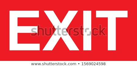 Red Exit Stock photo © ajn
