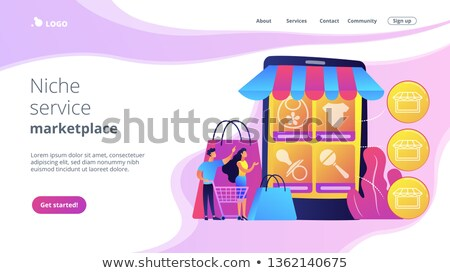 Niche service marketplace concept landing page. Stock photo © RAStudio