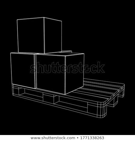 Entrepôt logistique travail cases Photo stock © RAStudio