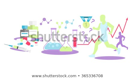 Anabolic steroids concept vector illustration. Stock photo © RAStudio
