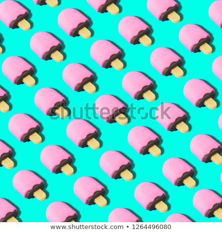 Lizak turkus górę widoku piłka candy Zdjęcia stock © magraphics