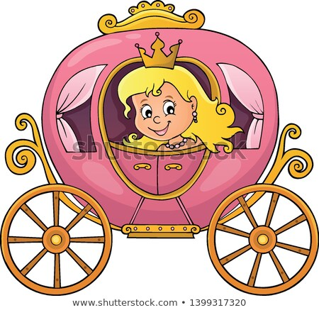 princess in carriage theme image 1 stock photo © clairev