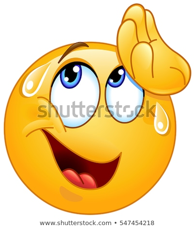 Sweating Worried Emoji Emoticon Icon Cartoon Stock photo © Krisdog