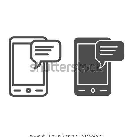 Electronics Line Web Glyph Icons Stock photo © Anna_leni