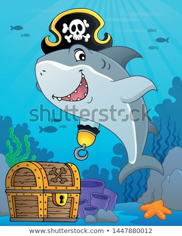 Pirata tubarão tópico imagem água mar Foto stock © clairev