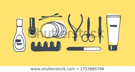 Szög művészet kézzel rajzolt firkák illusztráció manikűr Stock fotó © balabolka