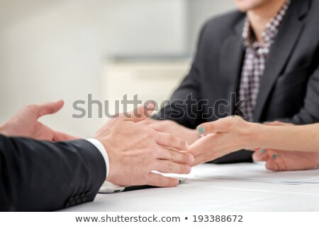 hands of two businessmen discussing business affairs stock photo © freedomz