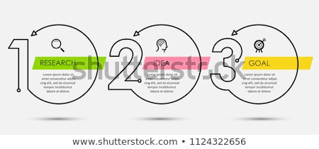 three steps business infograph in line style Stock photo © SArts